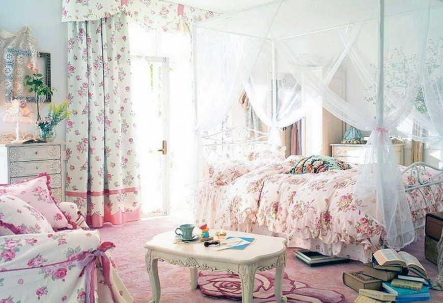 Спальня шебби-шик