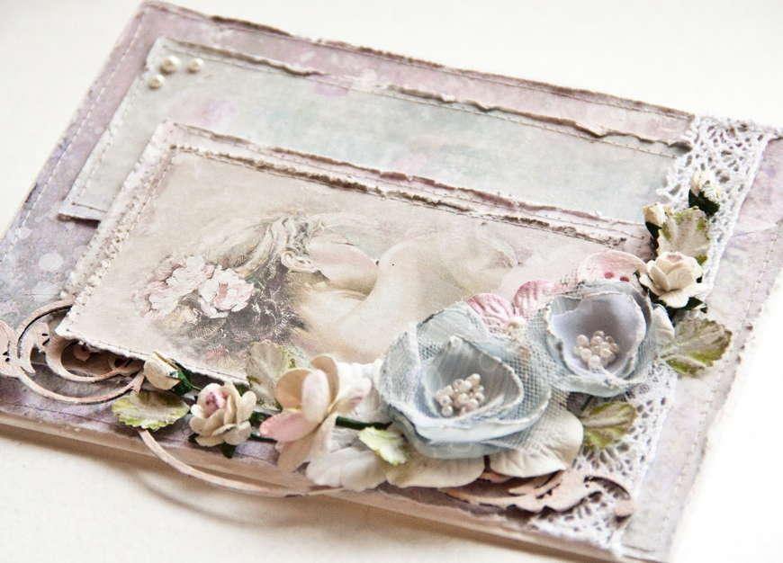 Свадебная открытка своими руками в стиле шебби-шик 25