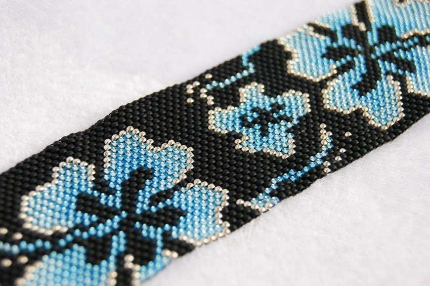 Сложные схемы плетения браслетов из бисера с
