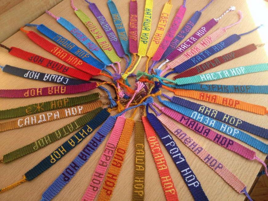 Схема букв для плетения мулине