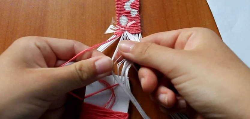 Схеме прямое плетение