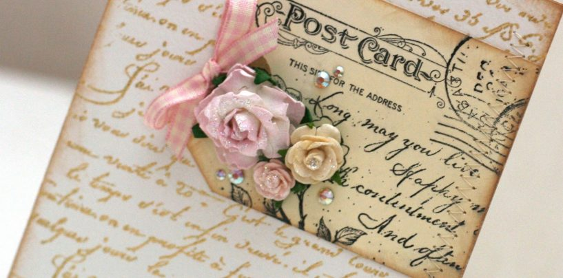 Незабываемое поздравление: трогательные открытки в стиле шебби-шик