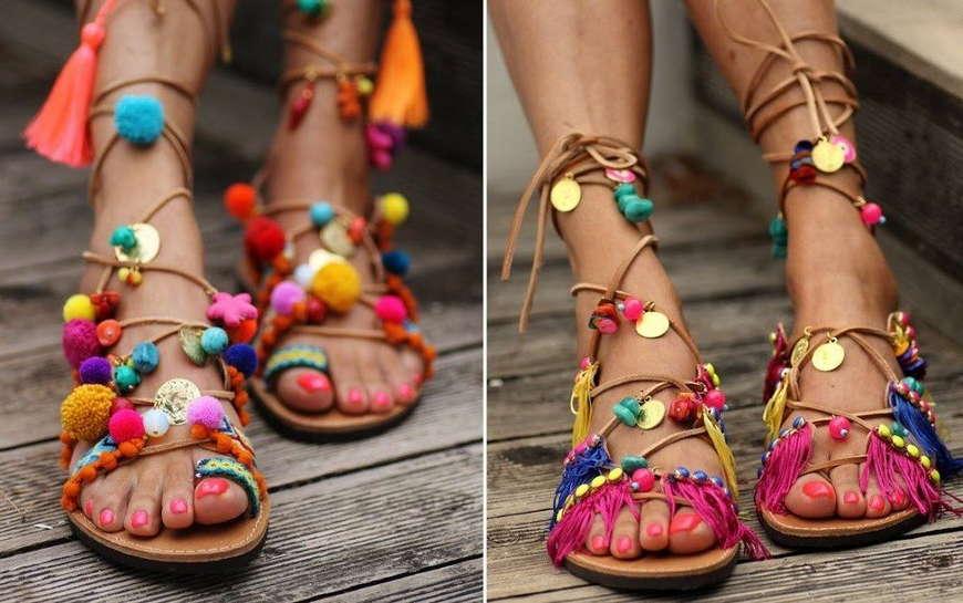 бохо сандали