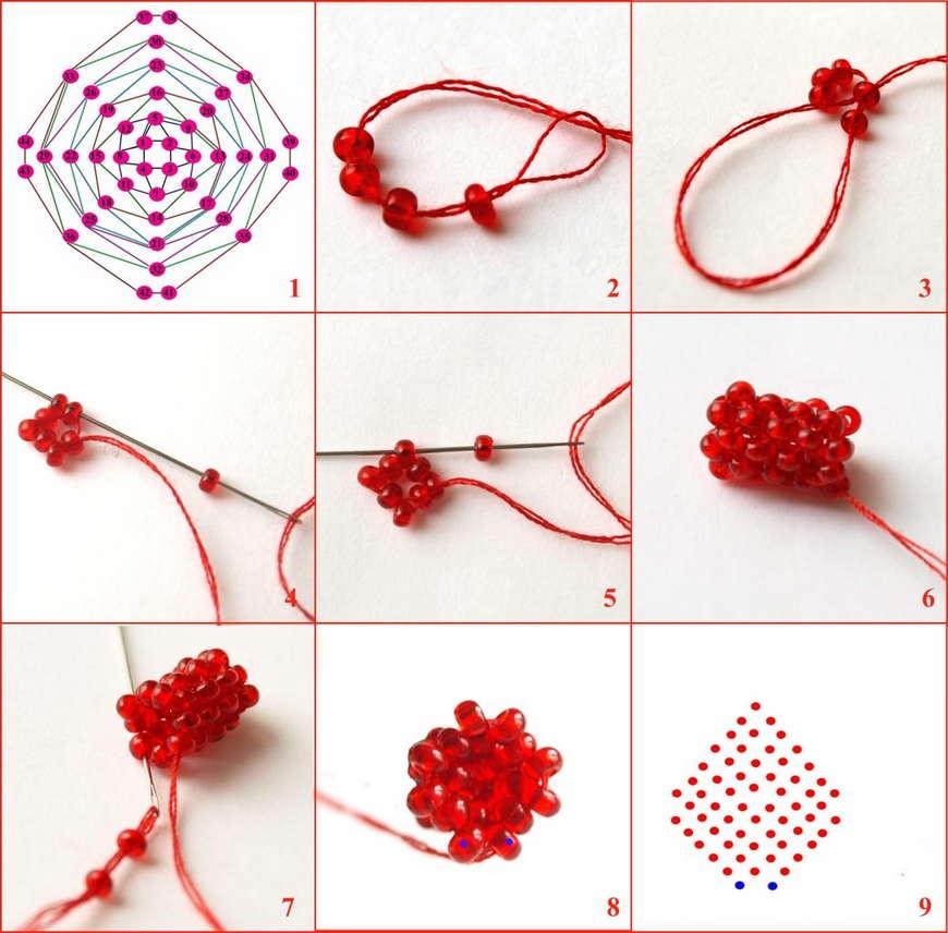 Как сделать своими руками фенечку из бисера по схемам с видео и фото 46