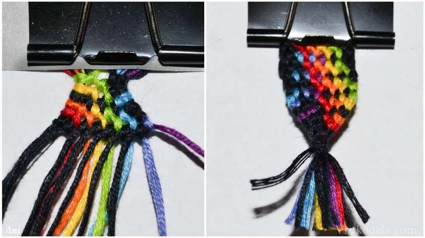 плетенный браслет
