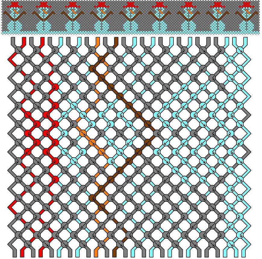 генератор схем плетения фенечек с именами