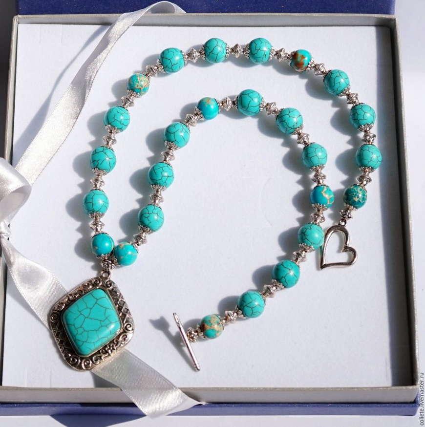 Ожерелье из натурального камня