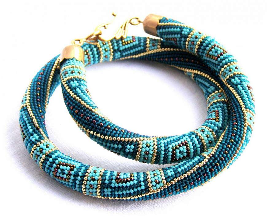 схема плетения жгура из бисера
