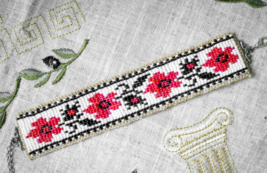 схемы плетения браслетов из бисера для начинающих