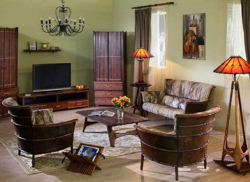 Комната в колониальном стиле