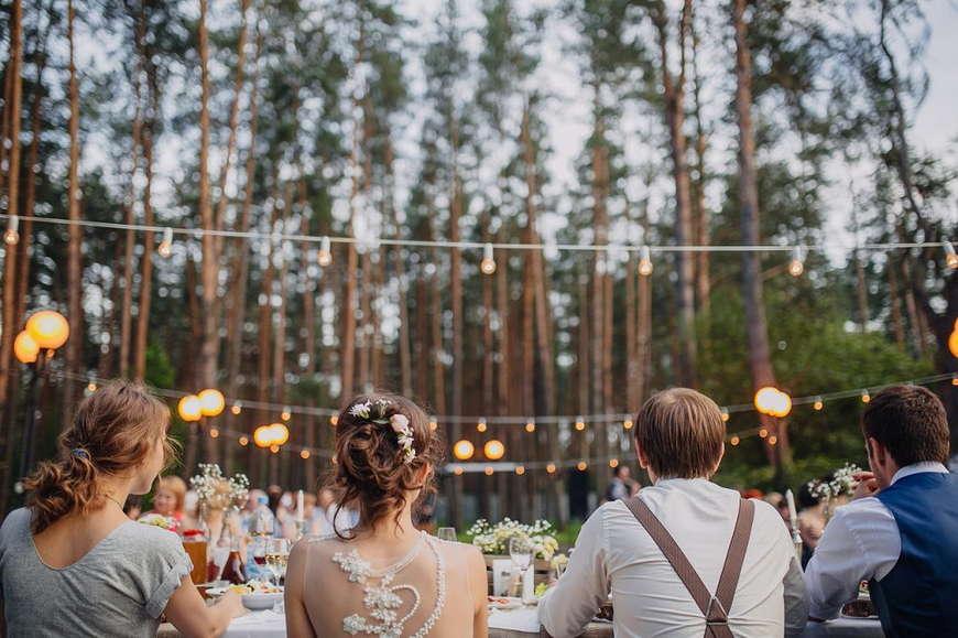 освещение свадьбы