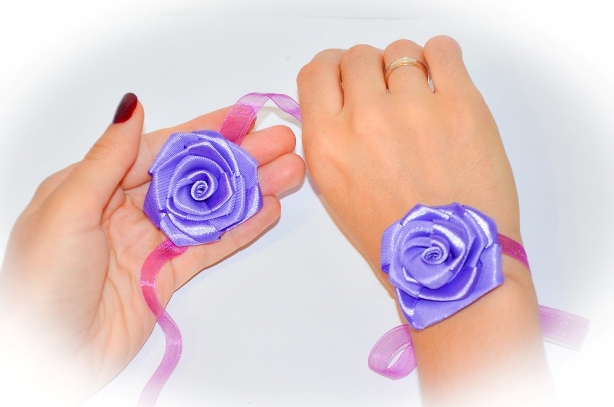 Браслеты из лент для подружек невесты своими руками