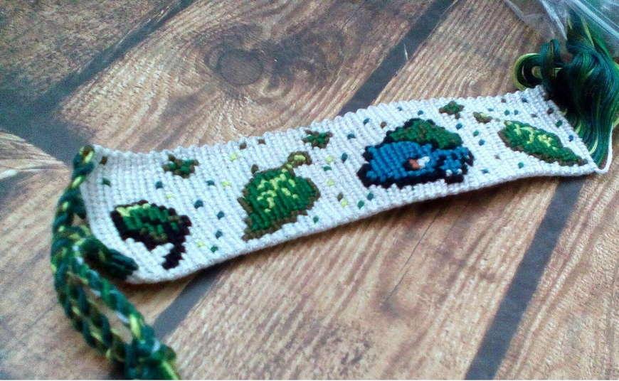 плетение фенечек из мулине схема елочка