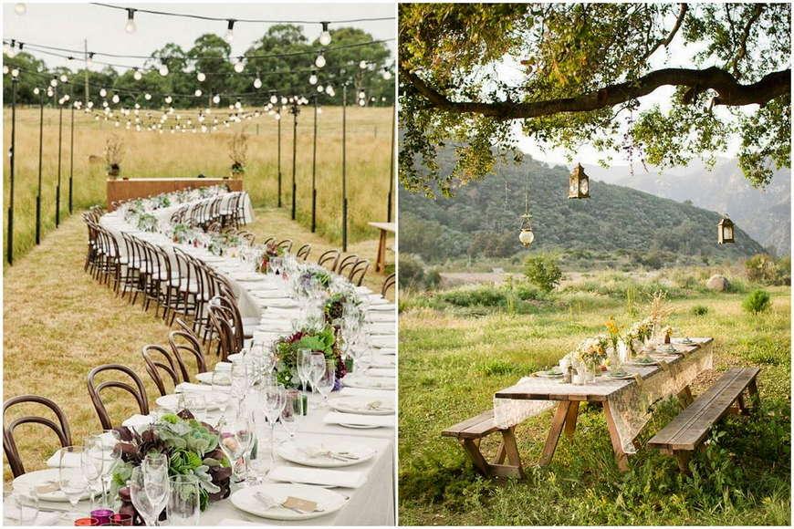 Стили свадьбы на природе