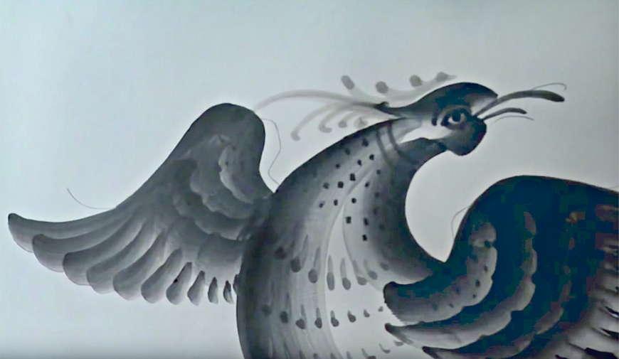 птица гжель