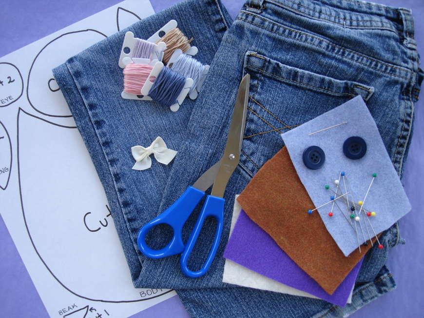 ножницы джинсы