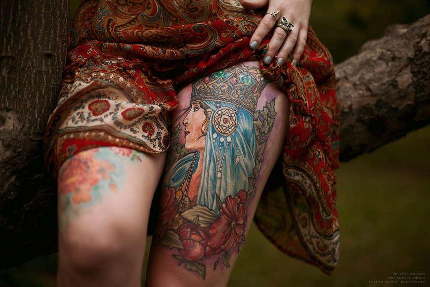 богиня лада татуировка