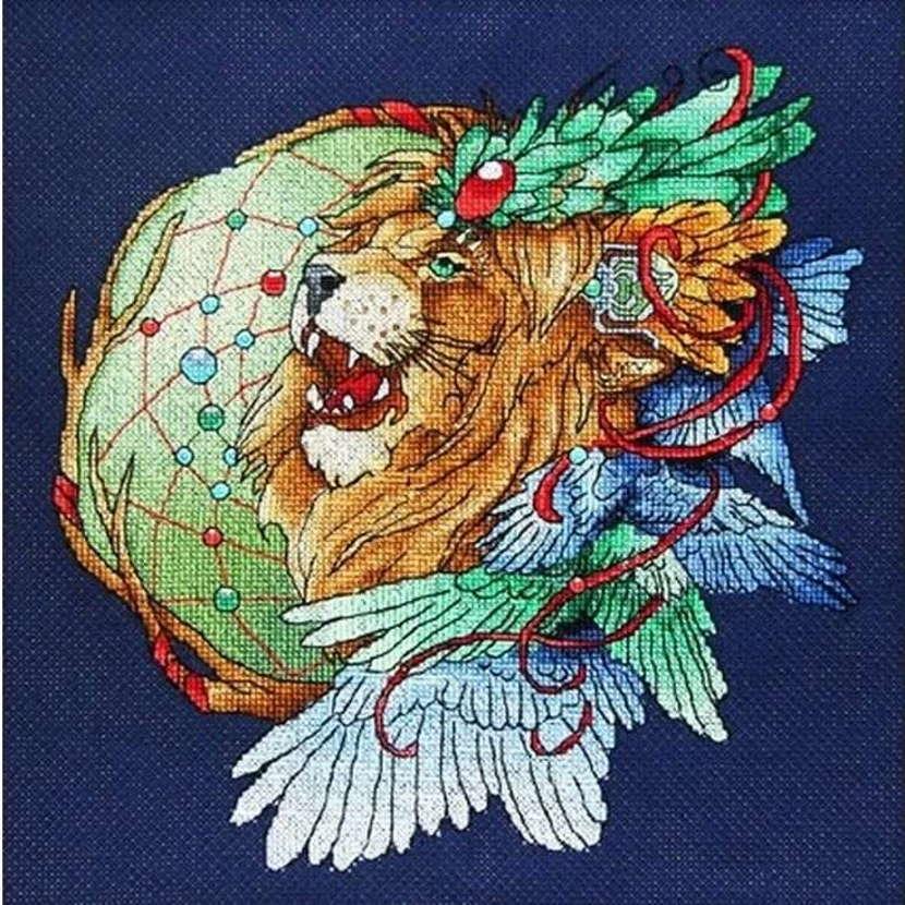 ловец снов лев вышивка